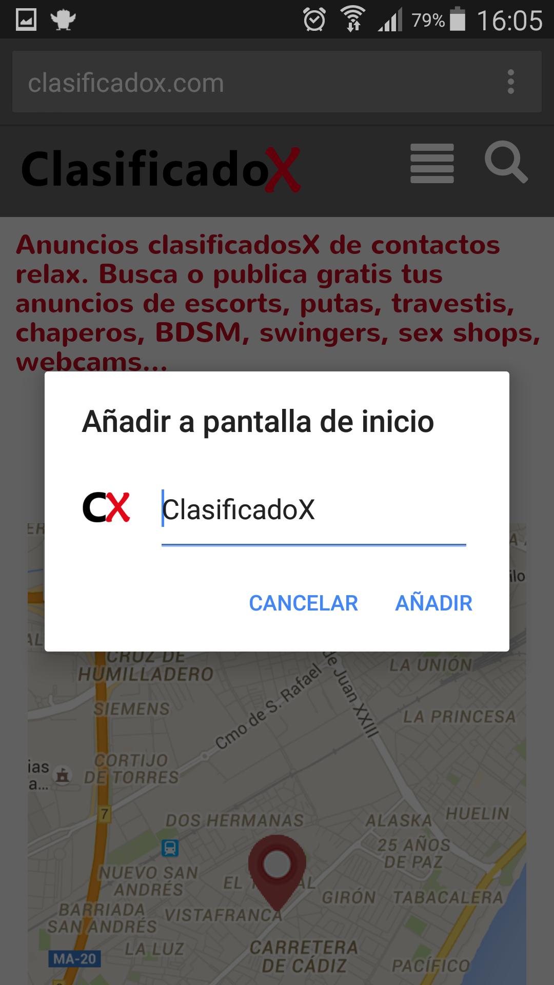 Aplicación anuncios geolocalizados sexuales y eróticos